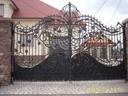 ковані ворота, мангали