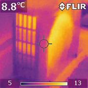 Тепловизионный контроль утечек тепла