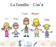 """Лекція з іспанської мови """"Вчимося говорити,  читати та писати. Сім'я"""