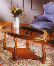 Журнальный столик Galimberti,  овальный со стеклом Журнальні столи – ві