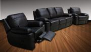 Качественная кожаная мягкая мебель с релакс: раскладные и угловые дива