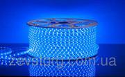 Светодиодный дюралайт  SMD3528 квадратный синий