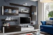 Современные модульные стенки Frost в гостиную очень комфортны при эксп