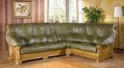 Роскошный и элегантный кожаный диван без сомнений произведёт впечатлен