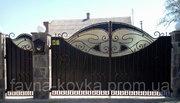 Кована брама з хвірткою від 6600 грн. Кузня fayna-kovka.in.ua