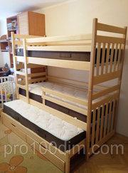 Ліжка двоярусні - низькі ціни від ПростоДІм