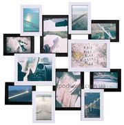 Путешествие - мультирамка черно-белая,  настенный коллаж на 12 фото